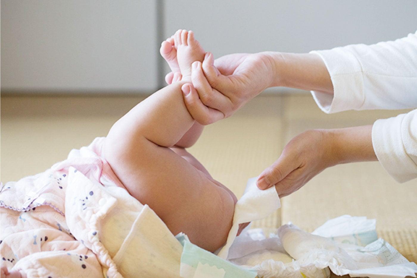 赤ちゃんのお尻拭き