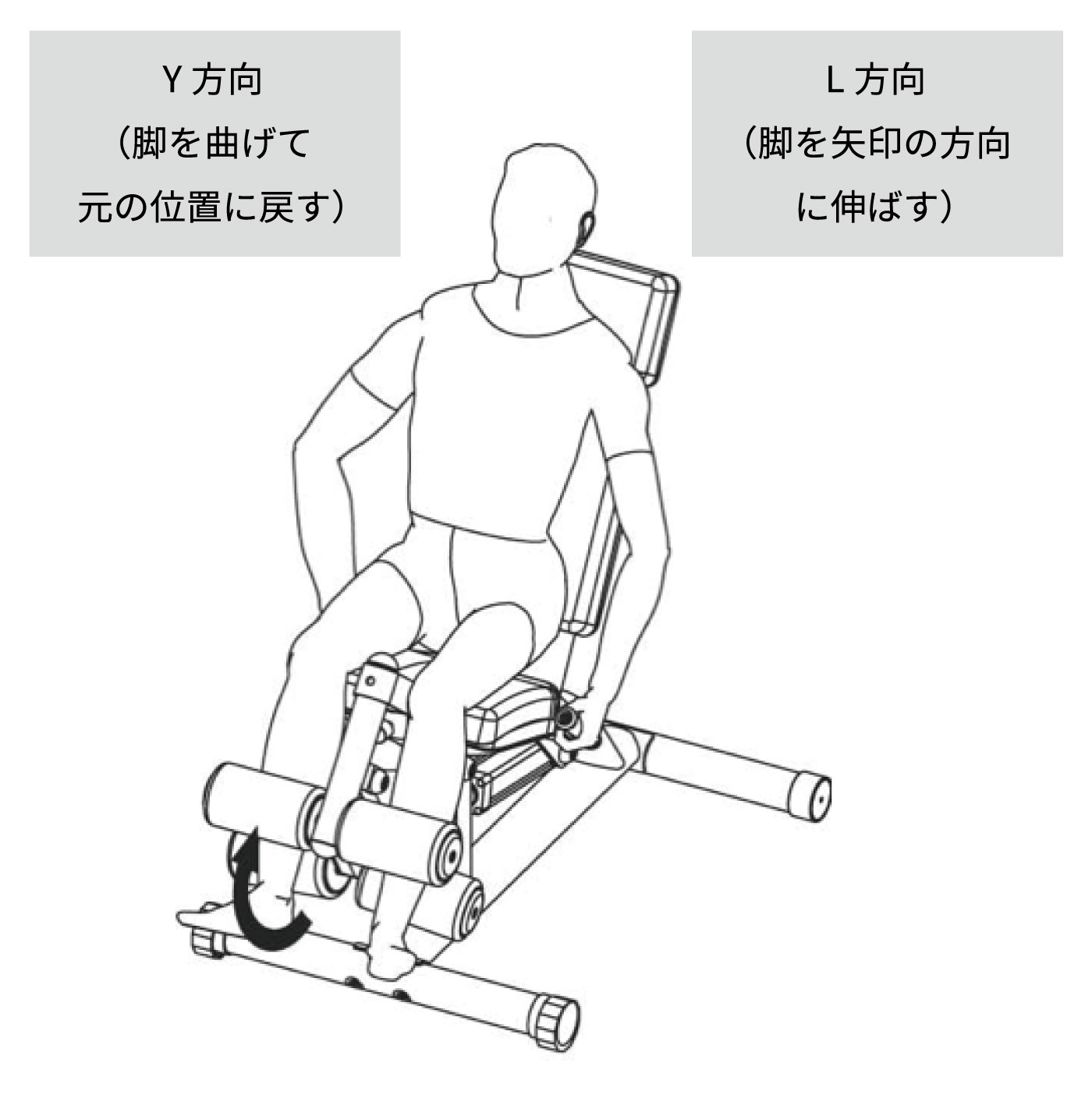 レッグカール/エクステンションのやり方