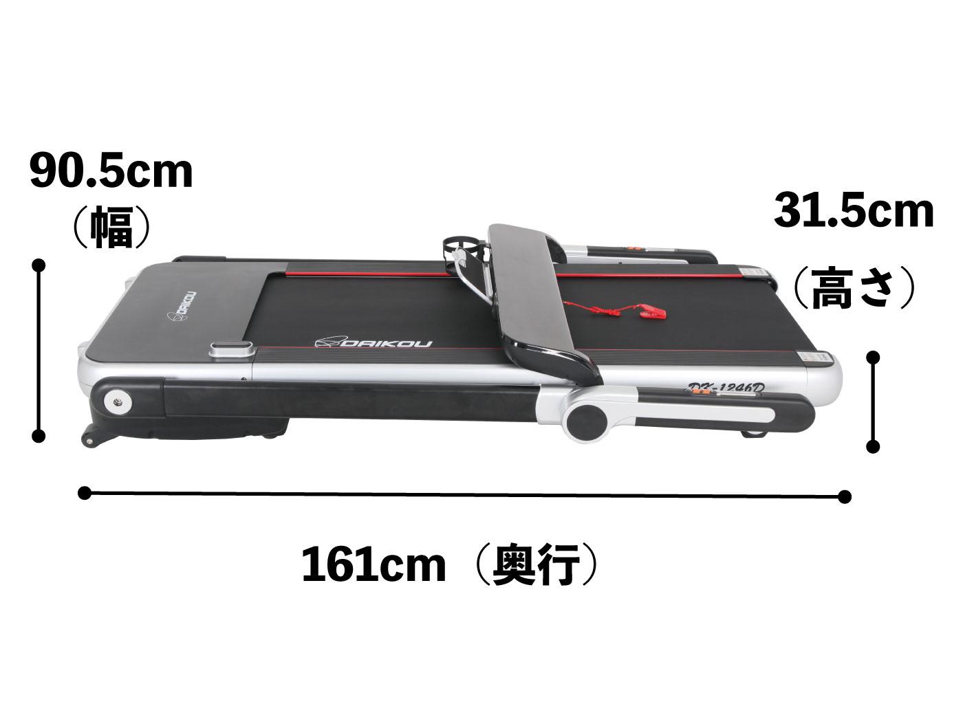 DK-1246Dの折り畳み時サイズ