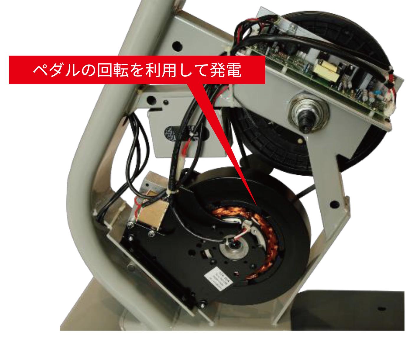 自家発電式アップライトバイク