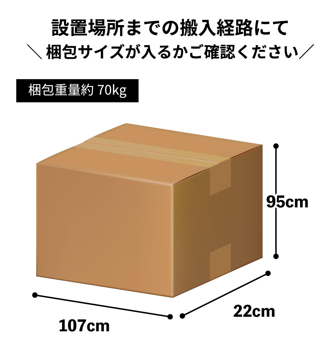 SB702-3260の梱包サイズ