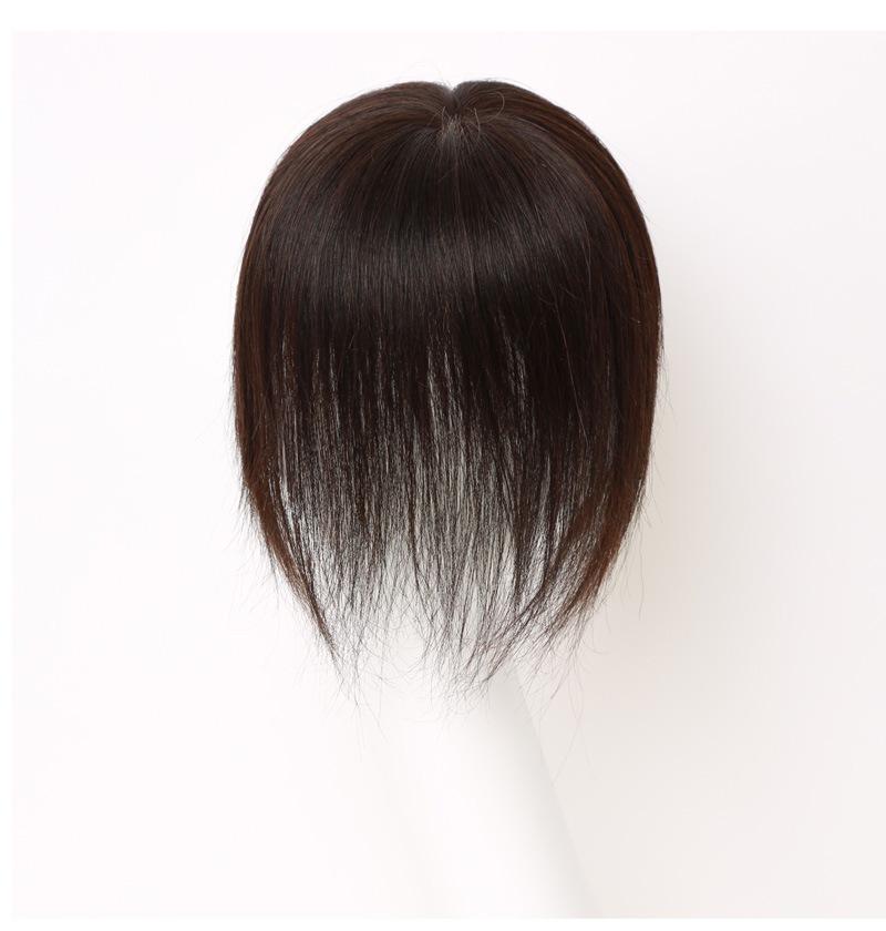 私元気MBHAD101220人毛部分ウィッグ着用の正面から見たモデル