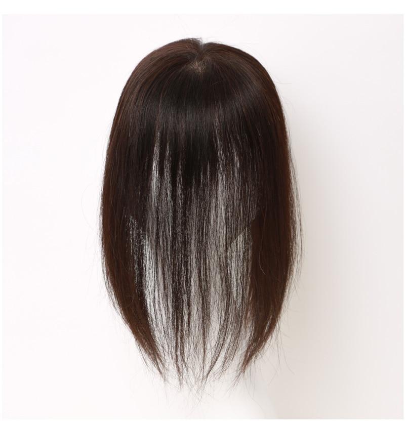 私元気MBHAD101230人毛部分ウィッグ着用の正面から見たモデル