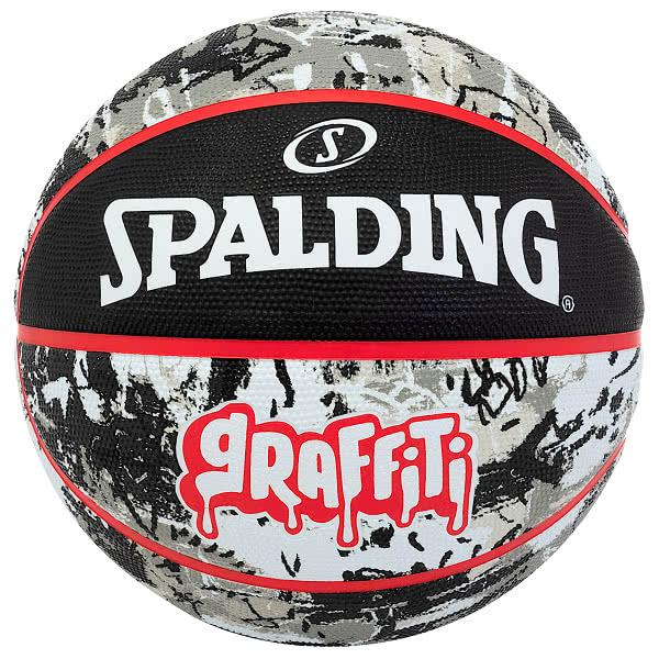 スポルディング バスケットボール 6号 グラフィティ ブラック レッド