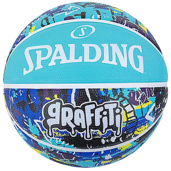 スポルディング バスケットボール 6号 グラフィティ ブルー