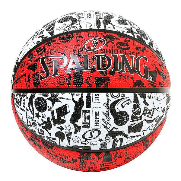 スポルディング バスケットボール 6号 グラフィティ レッド ホワイト