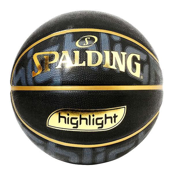 スポルディング ミニバス バスケットボール 5号 ゴールド ハイライト ブラック