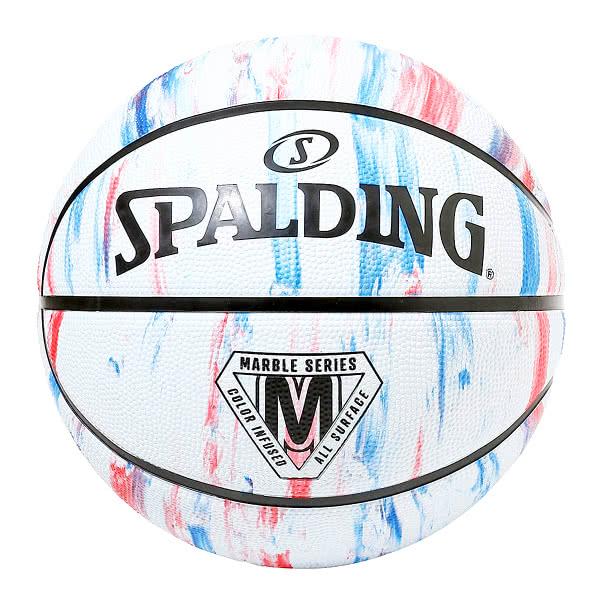 スポルディング 女性用 バスケットボール 6号 マーブル トリコロール