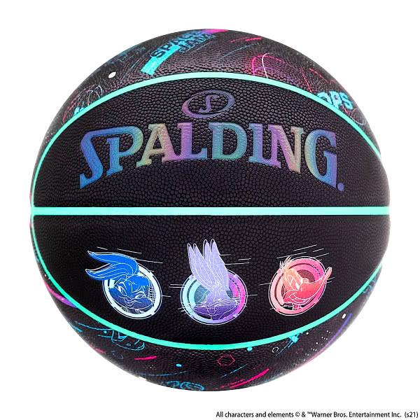 スポルディング バスケットボール 7号 スペースジャム ア ニュー レガシー ブラック リフレクターロゴ