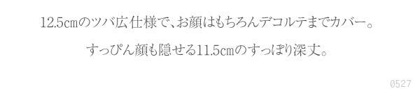 12.5cmのツバ広仕様