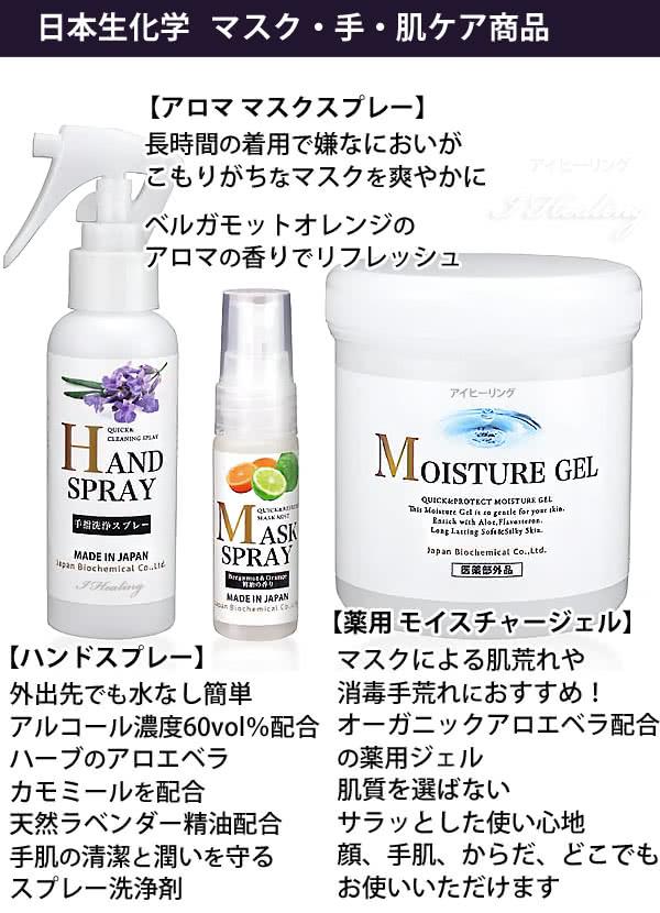 日本生化学 マスク・手・肌ケア商品