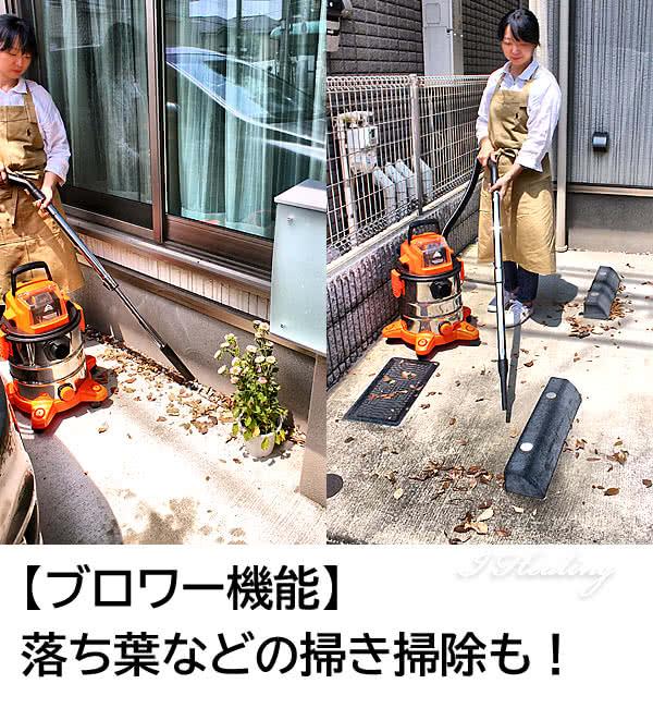 ブロワー機能 落ち葉の掃き掃除