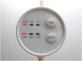 アロマディフューザーのリモコン画像
