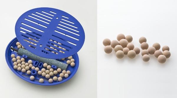 2種類のセラミックボール