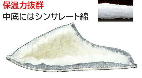 保温力 中底シンサレート綿 シルバー