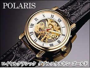 クラシックゴールド手巻き腕時計