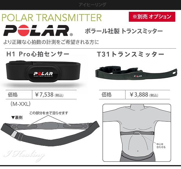 ポラールのトランスミッター正確な心拍数を測定