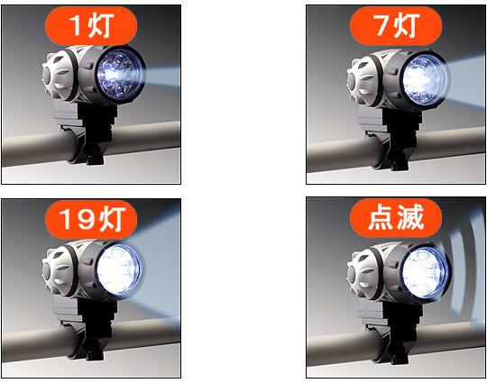 4つの点灯パターン