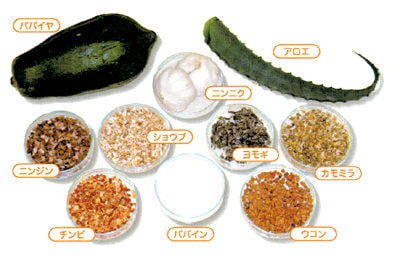 8種類の植物エキス