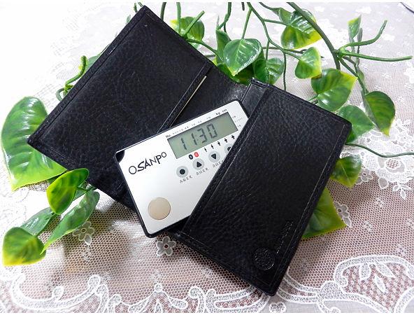 財布に入れ歩数カウント