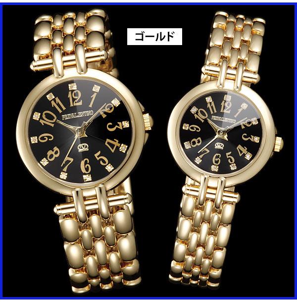天然ダイヤモンドカット腕時計ゴールド
