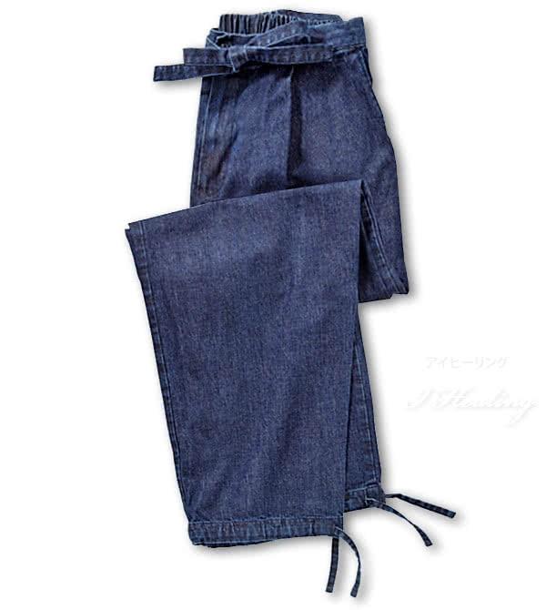 デニム作務衣 ズボン