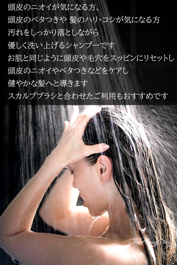 優しく洗い上げるシャンプー