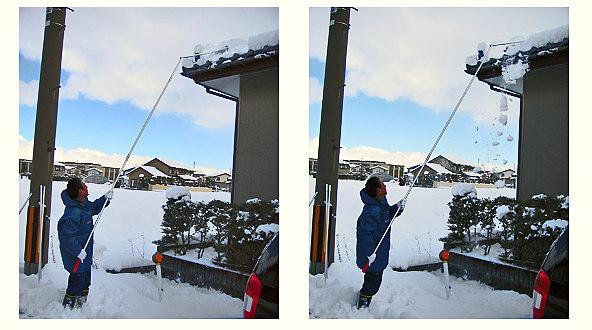 屋根の除雪