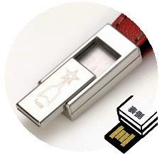 ワンプッシュスライド方式のUSBメモリ4GB