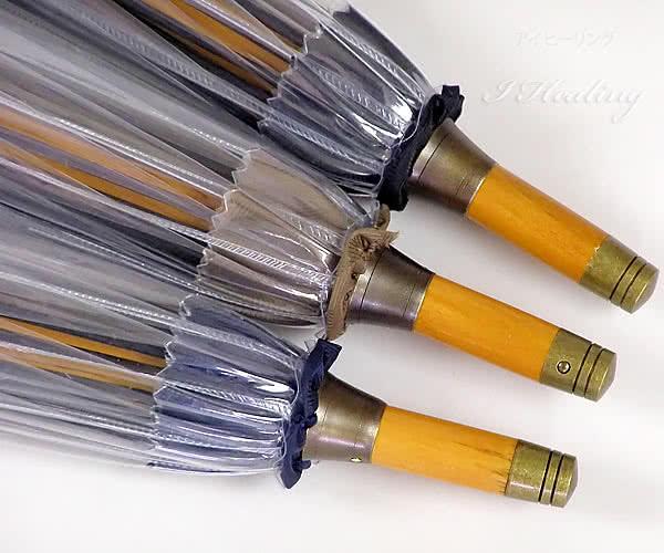 木製ビニール傘
