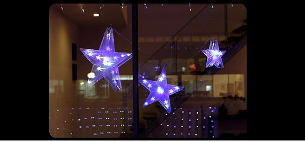 窓に星の形