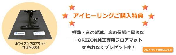 アイヒーリングご購入特典 HORIZON純正マットプレゼント