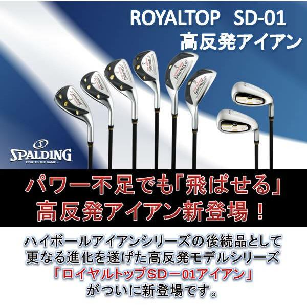 SPALDINGゴルフ ROYALTOP SD-01 高反発アイアン 単品 ヘッドカバー付通販|アイヒーリング本店