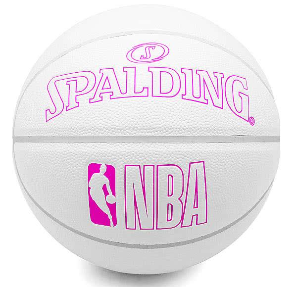 バスケットボール7号イノセンス ホワイト ピンク76-481J