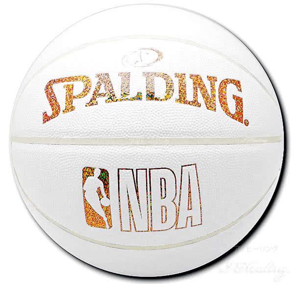バスケットボール7号ホログラムコンポジット ホワイト ゴールド76-482J