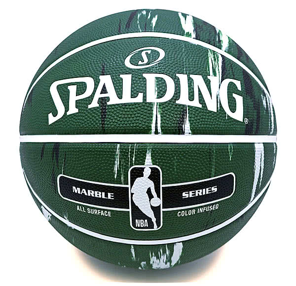 バスケットボール7号マーブル グリーン ブラック71-173J