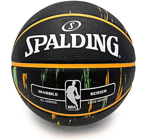 バスケットボール7号マーブル オレンジ グリーン83-882Z