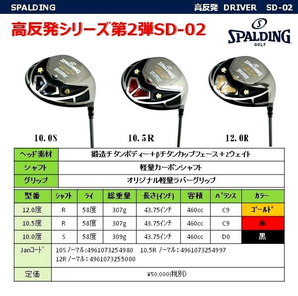 高反発ドライバーSD-02の商品説明5