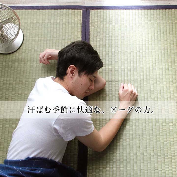 カイハラデニム い草ラグ 「 沖縄ビーグ  」128×200cm/191×191cm/191×250cm