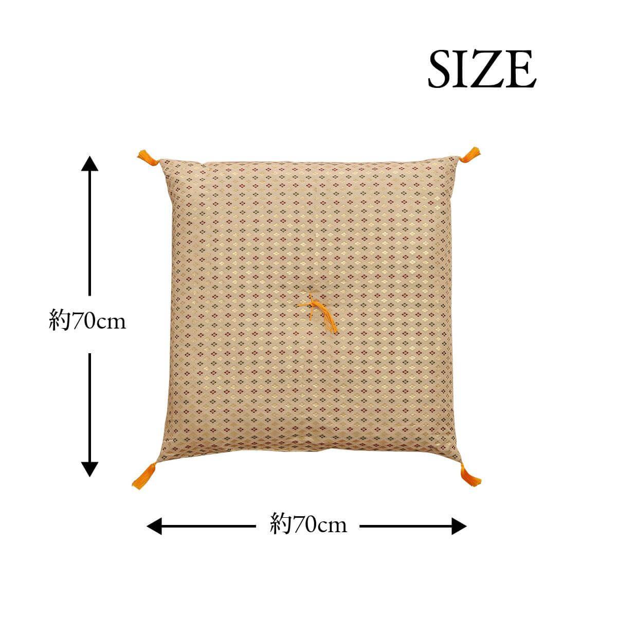 仏前座布団 低反発「 白虎 」約70×70cm