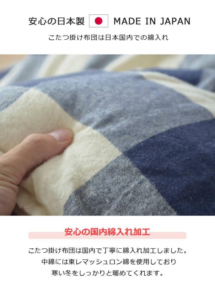 【送料無料】日本製インド綿 こたつ掛け布団「オーブ/アース」 サイズ:190×240cm