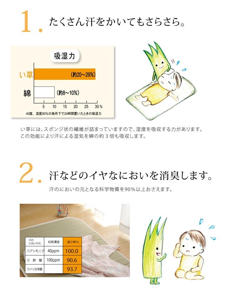 【寝具】 い草ベビーマット 医師との共同開発 い草寝具 『アスク ベビーマット』【IB】 約70×120cm(#7516009)