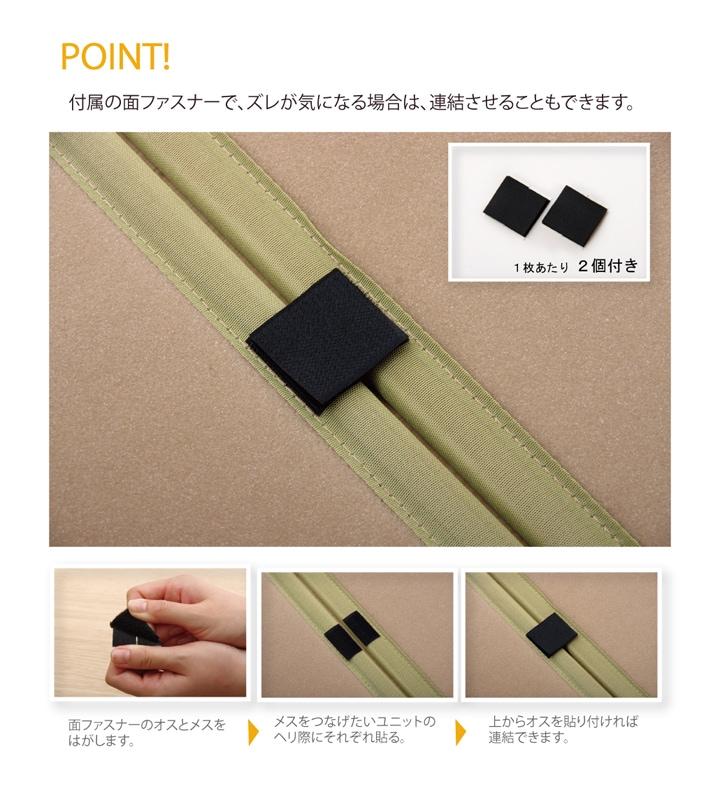 カーペット | 置き畳 | 置き畳 フローリング畳 国産 半畳 軽量 ユニット畳 「かるピタ」 約82×82cm 選べる2色