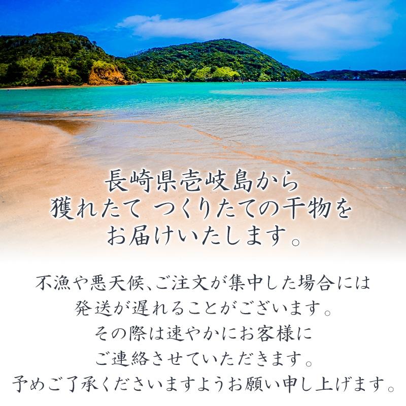 長崎県壱岐島から、獲れたてつくりたての干物をお届けいたします