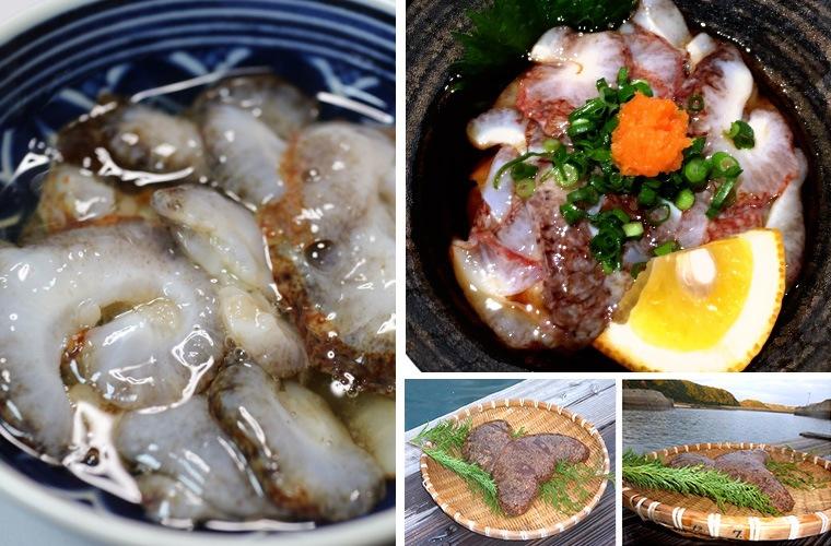 長崎県壱岐産なまこ 酢となまこの現物
