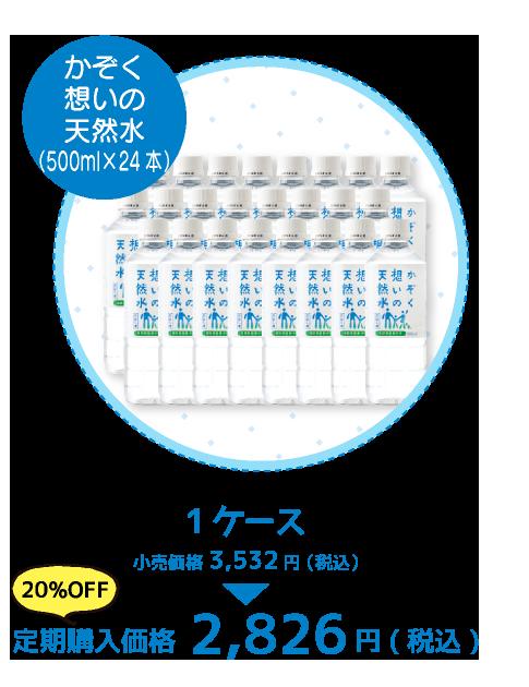 かぞく想いの天然水ペットボトル500ml×24本