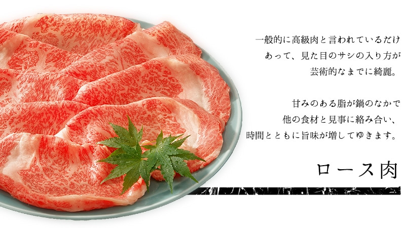 ロース肉について