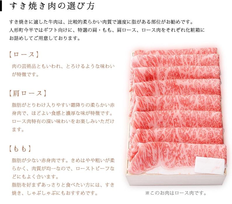 すき焼き肉の選び方