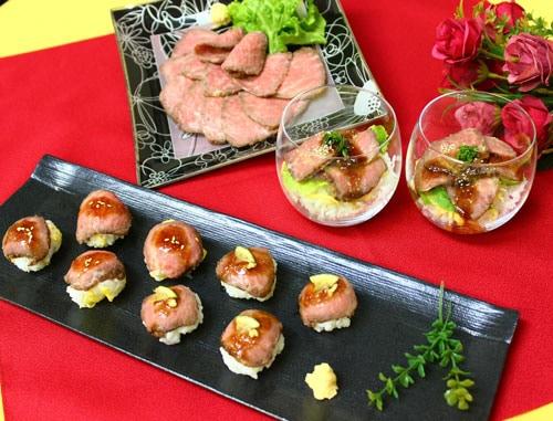 ローストビーフの手まり寿司&プチちらし寿司