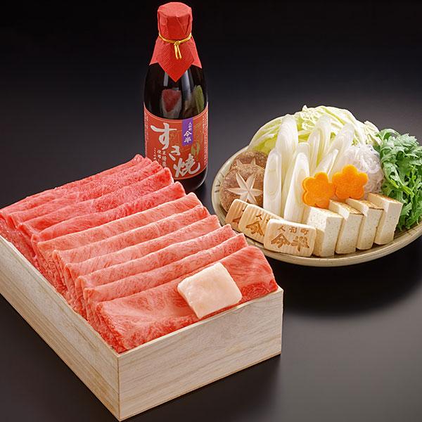 黒毛和牛すき焼きセットA(約2人前)[化粧箱入り]【冷蔵便】